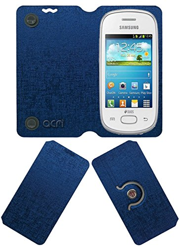Acm Designer Rotating Flip Flap Case for Samsung Galaxy Star S5280 S5282 Mobile Stand Cover Blue  available at amazon for Rs.399