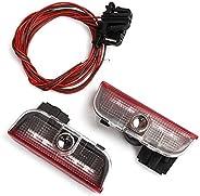 XFC-TYYY, 2Pcs LED Car Door Logo Projector Light Ghost Shadow Lamp For VW Jetta MK5 MK6 MK7 Golf 5 6 7 Passat B6 B7 CC EOS To