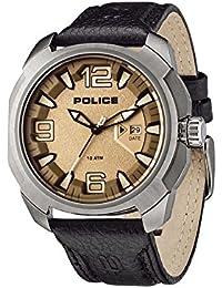 POLICE Herren-Armbanduhr XL TEXAS Analog Quarz Leder P13836JS-61