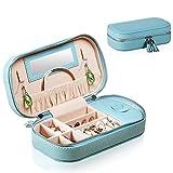 Portagioie oversize Piccola scatola di gioielli da viaggio in ecopelle per le donne Borsa di gioielli con vetrina di esposizione per gli orecchini Collana di orecchini Regalo di compleanno Regalo per