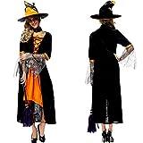Halloween Sorcière Costumes Set pour Femme / Ladies Fancy Dress vêtements Performance -Juleya
