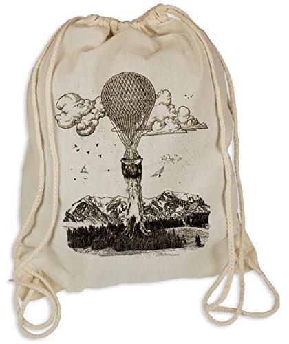 Ballon Miez - Gymsac Turnbeutel - Stoffbeutel Hipster Sportbeutel Rucksack Tasche Katze Katzen Cat (Sports Big Bag Cat)