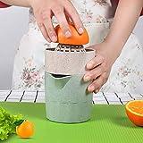 Spremiagrumi Manuale Rotazione Spremiagrumi Lime Lemon Alesatore con Filtro Contenitore (Verde Menta)