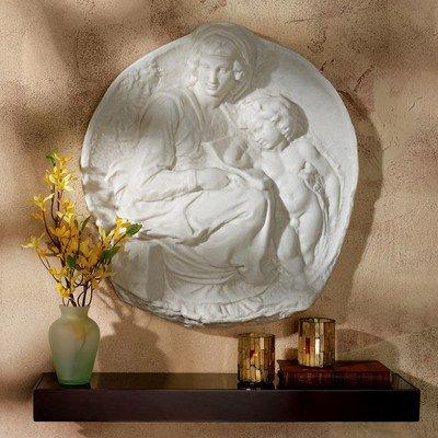 Design Toscano Tondo Pitti: Jungfrau und Kind, Wandfigur