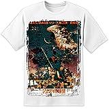 Digital Pharao Herren Star Wars Jedi Selten abgenutztes White Filmposter T-Shirt Episode 7 8 VIII Han Solo Blu Ray - Weiß, Small