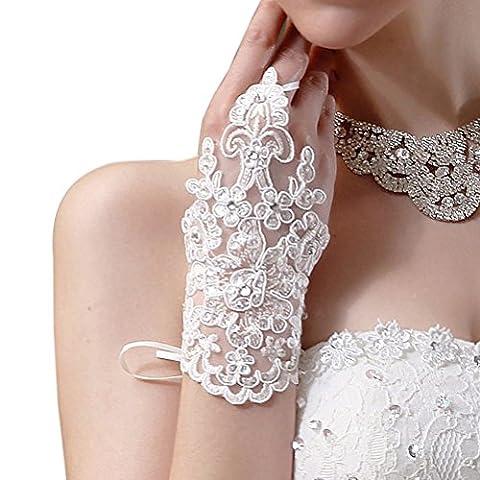 Pixnor Mariage faux diamant Mitaines exquis parti De mariée gants Bal de promo