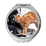 Yanteng Spiegel, Reise-Spiegel, Hund Katze Tiere Inländische Gata Kätzchen Tier, Taschenspiegel, Tragbare Spiegel