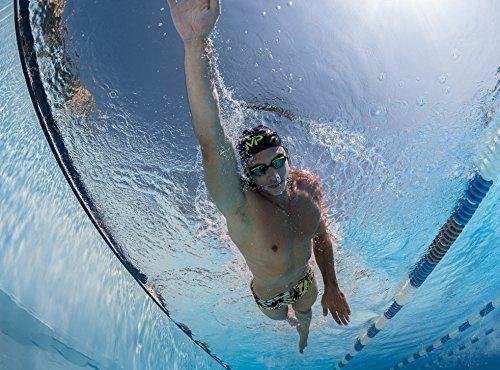 MP–Michael Phelps charmcity Short de bain pour Slip Noir/gris Blue/Dark Pink Multicolore