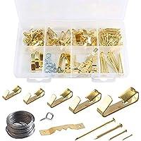 Kit de 200 piezas para colgar cuadros, kit resistente para colgar cuadros con clavos para