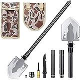 DELEE Pelle Pliante Militaire, Outil Tactique Multifonctionnel Portable, Pelle extérieure pour Le Camping, Survie en Plein ai