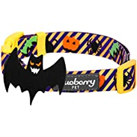 Blueberry Pet Halloween Madness Party Classic Designer Dog Collar with Decoration, Medium