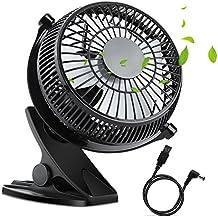Mini Ventilator Fan USB Tischventilator leise 5 Zoll 360-Grad-Drehung Einstellbare tragbare Mini-Tisch und Büro / Bett / Schlafzimmer /von WEINAS