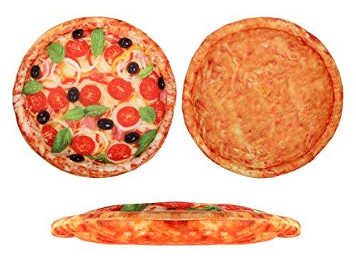Pizza Kissen in Pizzakarton Pizzakissen Ki-150 Tomate Pizzaschachtel Geschenkidee 40cm Salamipizza Pizza Tomate von Alsino China Pizza