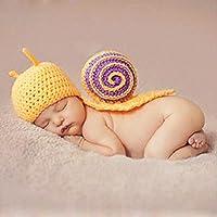 Happy Elements recién nacido bebé decorado foto lactante punto ganchillo  crochet Disfraz azules Elfo gorro con 6b311dce813