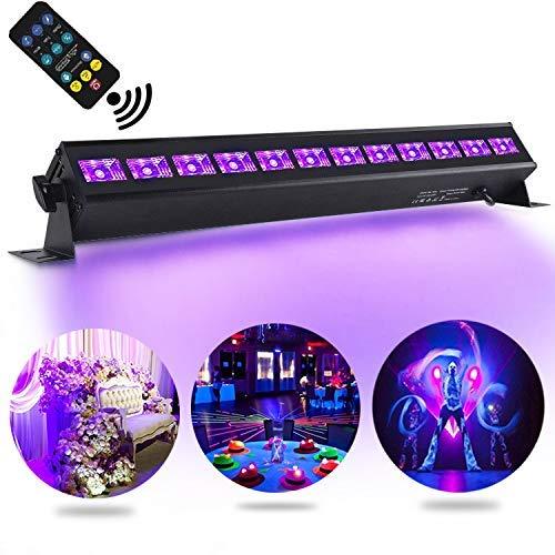 UV Luce Effetto 36W, AONCO 12LEDs Controllo Remoto Luci del Palcoscenico Llluminazione per Scena di Matrimonio Bar Partito Club Discoteca DJ Light 220V