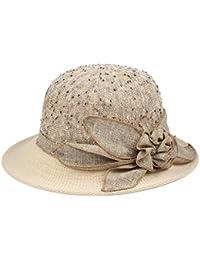 SUSHI Sombrero de Verano Sombrero de Visera de la Abuela Sombrero de Madre  Transpirable de Mediana Edad Sombrero de Sol con… e8a266b2dbe