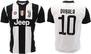 T-Shirt Fußball Paulo Dybala 10 Juventus Home Saison 2018-2019 Replica Offizielle mit Lizenz - Alle Größen Kinder und Erwachsene