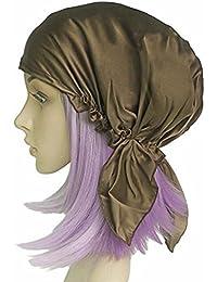 541ec8b1f7e Emmet 100% Mulberry Silk Night Sleep Cap Bonnet for Hair Loss Women  Sleeping Hat 19