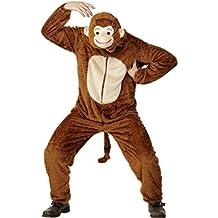 Fun Shack - Costume da scimmia, incl. tuta con cappuccio, (Adulti Tuta)