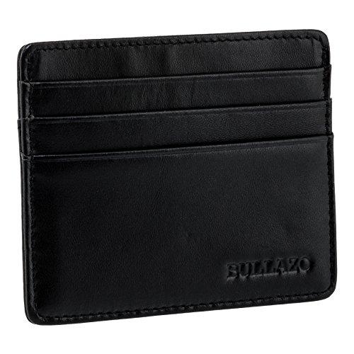 leines Kreditkartenetui mit RFID Schutz aus Leder, Schwarz ()