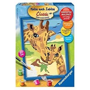 Peinture au numéro - Classic : Girafe et girafon - Version allemande
