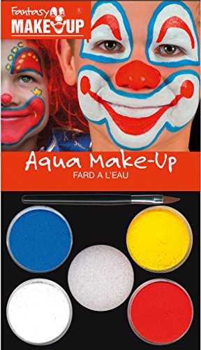 Kreul Fantasy Aqua Make Up Picture Clown, 1er Pack (1 x 7 Stück) (Halloween-make-up Erwachsene Für)