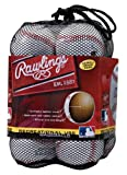 Rawlings Official League Recreational Use Baseballs (Pack of 12), 10 dz/Red, White