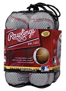 Rawlings Offizielle League Freizeitgebrauch Basebälle, Tasche von 12,...