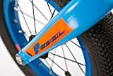S'COOL Kinder pedeX 1 Lernlaufrad, Blue/Orange Matt, 12 Zoll