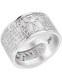 ba196e0f7749e2 anello donna gioielli Amen Padre Nostro misura 16 casual cod. PN-16