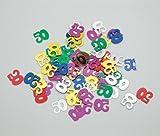 Confetti - Coriandoli da tavola sagomati 50 Anni Multicolor - Coriandolini per decorarioni addobbo tavola per feste di compleanno -15gr