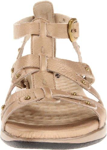 Softwalk Torino Breit Offener Spitze Leder Gladiator Sandale Gold Wash