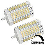 MENGS® 2 Stück Dimmbar R7s-J118 118mm LED Lampe 30W AC 220-240V Kaltweiß 6500K 64x5730 SMD Mit Lüfter
