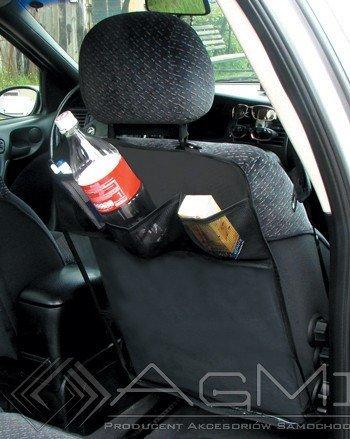 Preisvergleich Produktbild ORGANISER. Rückenlehnenschutz transparent mit schwarzen Taschen x 2 Stück.