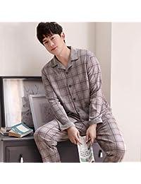 CXCX Conjunto De Pijamas Camisones Ropa De Dormir Ropa De Noche De Hombre Primavera Otoño Algodón