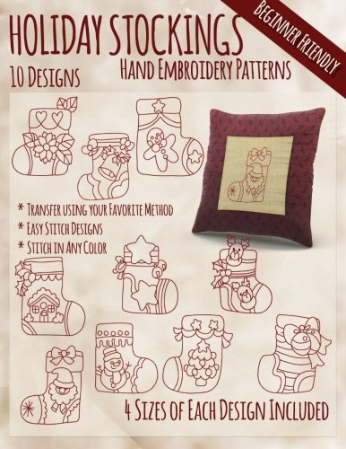 Holiday Stockings Hand Embroidery Patterns