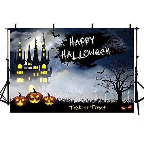 Mehofoto Halloween-Party-Dekoration, Fotostudio-Studio, Hintergrund für die Nacht, Mond, Grausame, für Fotografie, 2,1 x 1,52 m