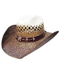 c6fb6475ac4c4 Modestone Traditional Bangora Rodeo Breezer Straw Sombrero Vaquero Beige