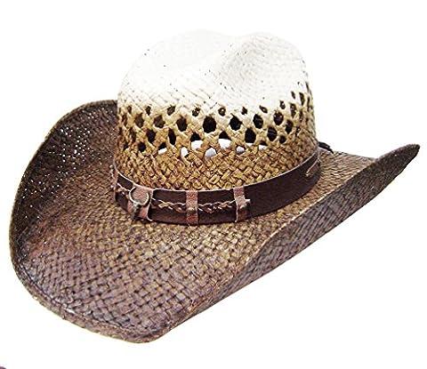 Modestone Taditional Bangora Rodeo Breezer Straw Chapeaux Cowboy Beige