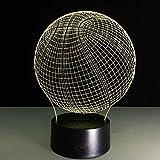 7 Farbe Basketball Lampe 3D Visuelle Led-Nachtlichter Für Kinder Touch Usb Tischlampe Lampe Baby Schlafen Nachtlicht Luminarys 3D Shldxz