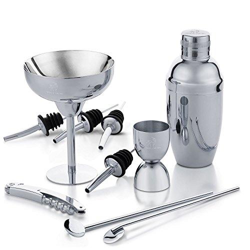 Metallic Einhorn Cocktail Shaker Set Home Bar von 10Stück Premium Edelstahl Barkeeper Kit