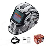 MTSBW Casco De Soldadura Energía Solar Capa Oscurecimiento Automático Soldador Máscara Cascos Pulido Transpirables con Rango Sombra Ajustable