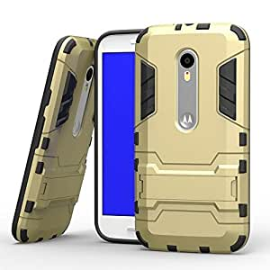 Royal Rusi - Designed Back Case Stand , USB Data Cable, Stylus Pen For Motorola Moto G3 G 3rd Generation - Gold