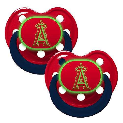 Baby Fanatic Schnuller-Glow in the Dark (2Pack)-Los Angeles Angels