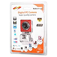 Shivox Digital PC Camera SX-8010BL, أحمر