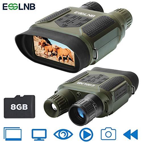 """ESSLNB Binoculares Digitales de Visión Nocturna 7x31 con 2\"""" TFT LCD Pantalla y 8GB TF Tarjeta Foto Cámara Vídeo Grabadora Función de Reproducción"""