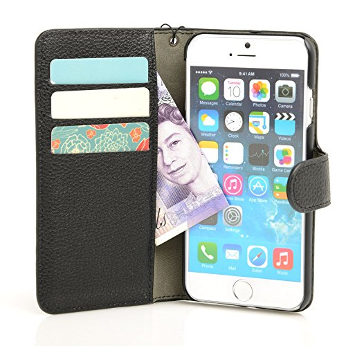 Genuine MadCase? Clear Transparent Ultra Thin Slim Crystal Back Cover Case for Apple iPhone 5 16GB 32GB 64GB - includes Screen Protector and Cloth grainé synthétique Doux - Noir
