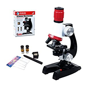 PHOEWON 100x 400x 1200x Microscope Set Beginner Microscope Kit with LED Light Microscope for Kids Education Science Toys Early Education Gift for Kids or Students
