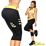 Hallmark Hot Sweating Body Shapers Pant Capri Slimming Belt Hot Thermo Sweat Shapers Slimming Capri Pant Sauna Waist Cincher Girdle for Weight Loss Perfect Thigh Shaper for Women & Men (M)