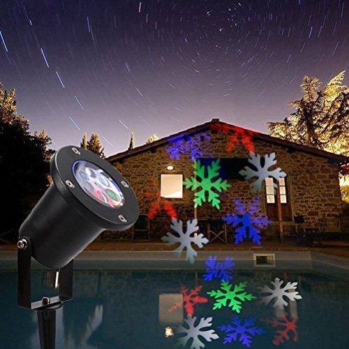 or Strahler mit Beweglichen Schneeflocke Muster Gartenbeleuchtung für Weihnachten Halloween Hochzeit Party Karnavel Show,mehrfarbig (Baby-halloween-shows)